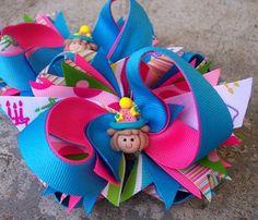 Super fun birthday hair bow