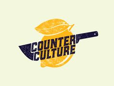 Counter Culture Revision designed by Brethren Design Co. Connect with them on Dribbble; the global community for designers and creative professionals. Restaurant Logo Design, Food Logo Design, Shirt Logo Design, Logo Food, Food Graphic Design, Graphic Design Typography, Logo Inspiration, Sharp Logo, Knife Logo