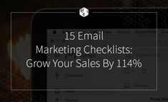 15 Email Marketing Checklists: Grow Your Sales By Internet Marketing Seo, Mobile Marketing, Email Marketing, Content Marketing, Digital Marketing, Email Providers, Email Service Provider, Course Search, Advertise Here
