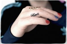 Love ring finger tattoo | Tattoos & Piercings | Pinterest