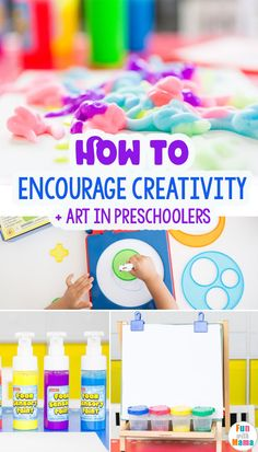 How To Encourage Creativity In Preschoolers - Fun with Mama