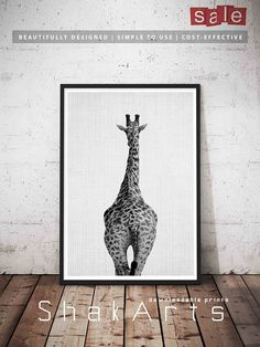 Giraffe Butt Print Nursery Safari Print Animal Butt Wall