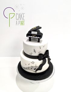 Cake Design CAKE A P'ART Perpignan - Wedding Cake Gâteau personnalisé Mariage et Anniversaire - Thème Musique et Piano... Piano, Cake, My Favorite Things, Desserts, Food, Design, Birhday Cake, Birthdays, Weddings