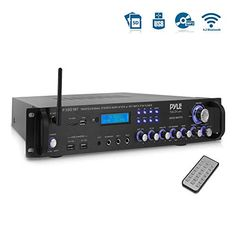 Pyle Bluetooth Hybrid Amplifier Receiver - Home Theater Pre-Amplifier with Wireless Streaming Ability, Radio Watt) Cool Car Accessories, Blue Led Lights, Stereo Amplifier, Entertainment System, Home Theater, Sd, Bluetooth, Cool Car Gadgets, Blue Tooth