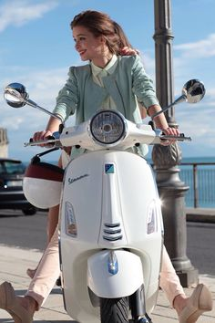 By Megan Kossow Vespa and Scooter Insurance – almost as fun as riding - If you own a Vespa or a scooter, then you are likely someone that. Scooters Vespa, Motos Vespa, Piaggio Vespa, Scooter Bike, Lambretta Scooter, Motor Scooters, Lady Biker, Biker Girl, Moda Rock