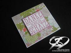 JsJ Stempelatelier : Florale Dankeskarte