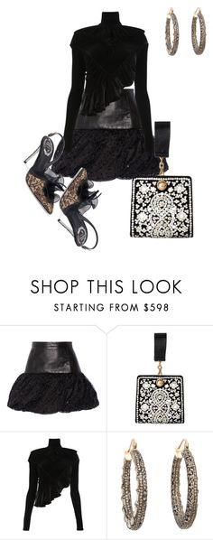 """i have never been more dissapointed ....."" by awewa ❤ liked on Polyvore featuring Yves Saint Laurent, Tory Burch, Y/Project, MUNNU The Gem Palace and René Caovilla"