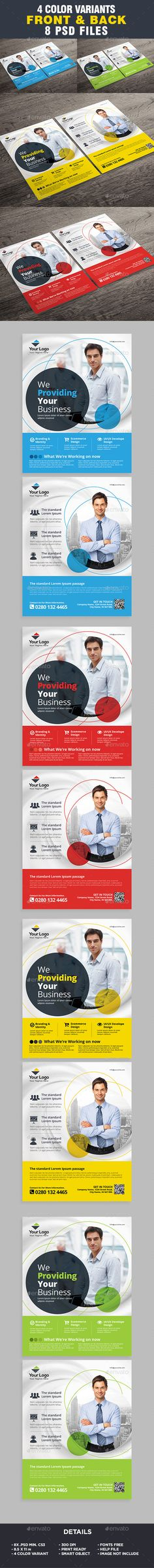 Corporate Business Flyer Template by ivanjoys19 More Flyer Template All elements beside the image are fully editable CMYK �20print readyLetter: 8.5×11 in. (potrait)   0.25 in.