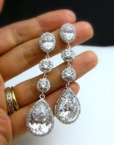 orecchini da sposa orecchini gioielli da sposa di DesignByKara