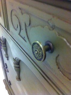 Maison Decor: Gothic Dresser in fabulous Olive Chalk Paint®!