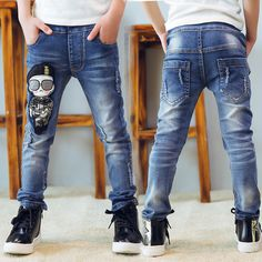 Cheap kids jeans, Buy Quality denim pants boys directly from China boys denim pants Suppliers: Kids Jeans Elastic Waist Stretch Denim Pants Boys Cartoon Leggings For Years Children 2017 Autumn Spring Pencil Trousers Baby Jeans, Denim Jeans Men, Casual Jeans, Jeans Style, Mens Hawaiian Shirts, Boys Pants, Leggings, Fashion Pants, Stretch Denim