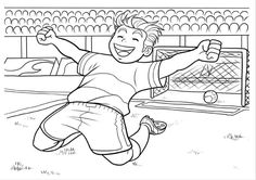 This soccer coloring activity page of a happy looking goalkeeper is an amazing free printable page for kids, who love soccer. Soccer Cup, Kids Soccer, Soccer Fans, Soccer Players, Color Activities, Activities For Kids, Intense Games, Gym Video, Card Drawing