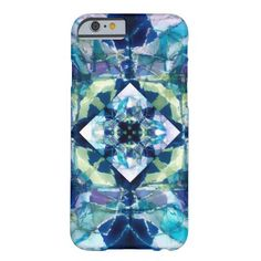 cool blue abstract art original design on iphone6 case. Artwork copyright Ann Powell all rights reserved.