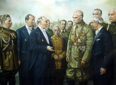 Reza Shah the Great of Iran and President Mustafa Kemal Ataturk of Turkey