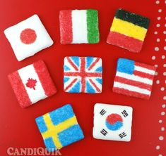 Olympic Flag Cookies for different countries! Olympic party...