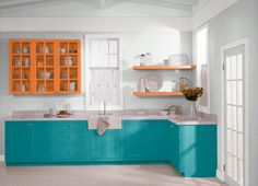 This is the project I created on Behr.com. I used these colors: BUBBLE TURQUOISE(M450-6),FRESH POPCORN(BWC-11),POLAR BEAR(75),ORANGE BURST(230B-6),PACIFIC SEA TEAL(510D-7),TUCSON TEAL(500B-7),ULTRA PURE WHITE(1850),SWISS COFFEE(12),