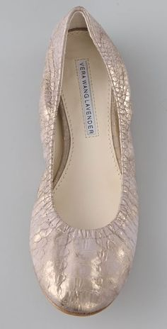 Vera Wang Lavender Line | Vera Wang Lavender Lillian Ballet Flats in Silver (white) - Lyst