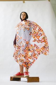 Phoebe Kime: Debut Collection — Thisispaper — What we save, saves us. Central Saint Martins, Pitch, New Fashion, Knitwear, Kimono Top, High Neck Dress, Textiles, Photography, Fashion Design