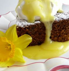 Gingerbread with Lemon Sauce