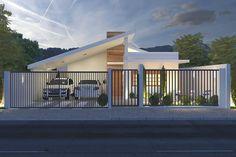 Plano de casa con garaje para dos coches