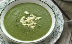 spinach soup with fetta