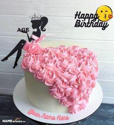 Vidya Best Friend Birthday Cake, 21st Birthday Cake For Girls, Girly Birthday Cakes, Sweet 16 Birthday Cake, Girly Cakes, 38th Birthday, Minion Birthday, Birthday Wishes, Happy Birthday