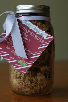 DIY gift idea: homemade skinny granola