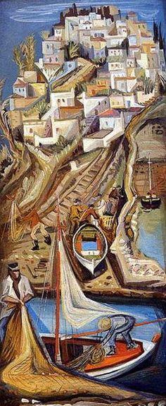 Ζαχαρίου Φώτης – Fotis Zachariou [1909-2001] | paletaart – Χρώμα & Φώς Painter Artist, Artist Art, Greece Painting, Great Works Of Art, Street Art, Unusual Art, Classical Art, Color Of Life, Conceptual Art