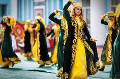 National folk dancers during Novruz celebrates in Azerbaijan