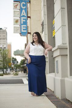 royal blue, royal blue maxi skirt, plus size maxi skirt, nordstrom plus sizes, macy's plus sizes, tart maxi skirt, white and gold sandals, white summer sandals, gold sandals, dolce vita sandals, white tank top, white and gold tank top, zipper tank, calvin klein tank top, calvin klein plus sizes, target gold necklace, white and gold statement earrings, gold and silver bangle bracelets, plus size bracelets, plus size street style, plus size fashion, plus size blogger, plus size clothing