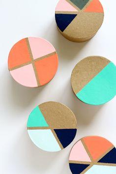 DIY: Painted Favor Boxes