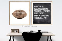 Inspirational quote. When youre good at something, youll tell everyone, When youre great at something, theyll tell you. Walter Payton quote Please select either photo or canvas as well as the size youd like from the drop down menu as you place it in your cart. Pricing is also available there. Minimalist Home Decor, Minimalist Room, Large Canvas Prints, Art Prints, Home Designer, Walter Payton, Professional Photo Lab, Home Decor Bedroom, Room Decor