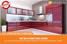 Your hunger for a contemporary kitchen will be satiated with high gloss modular kitchen modules. With enhanced practical design, high gloss finish and pocket-friendly range modular kitchen modules; your kitchen will be the best place to cook happiness for your family. Call at 9849012650 #marvelmodular #contemporarykitchen #highglosskitchen #customizedmodularkitchen #hyderabad Marvel Modular