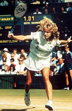 Not content with a mere calendar-year Grand Slam, Steffi Graf earned a unique Golden Slam in 1988 by winning all four major singles titles and an Olympic gold in Seoul. In Australia, Graf didn't lost a single set. In Paris, she cruised to a 6-0, 6-0 victory in just 32 minutes in the finals. Wimbledon and the U.S. Open proved to be a little more challenging, but she won both in three-set finals. Graf is also the only player to have won all of the majors at least four times.
