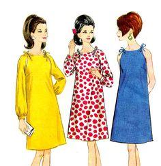 60s Mod Raglan Sleeve Dress