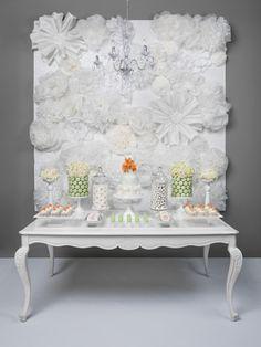 fancy schmancy white table decor! <3