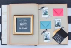 Guest book - Photo by Max Wagner via 100 Layer Cake, link to oh so beautiful paper
