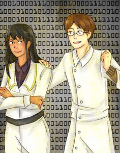 Dr. Rosalene and Dr. Watts: my favorite dorks! - To The Moon (Source: kageyamatobioo on Tumblr, found via tothemoonfandom on Tumblr)
