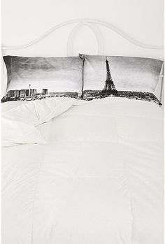 Paris Panorama Pillowcase Set $34-- Oh wow, too cute! I hadn't even thought of printing on stuff like that!