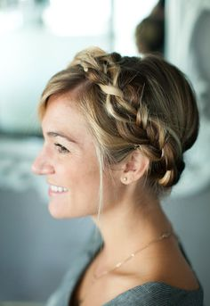 Try this braided crown for your next new hairstyle!