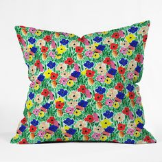 Bouffants and Broken Hearts All The Flowers Outdoor Throw Pillow | DENY Designs Home Accessories