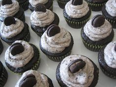Vegan Cookies and Cream Cupcakes, Oh My! Dairy-free, egg-free, nut-free! I could actually EAT these!!! Awesome!!!