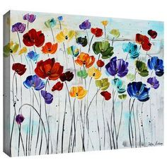 ArtWall Jolina Anthony 'Lilies' Gallery-Wrapped Canvas | Overstock.com Shopping - The Best Deals on Canvas