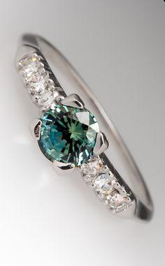 Blue-green sapphire