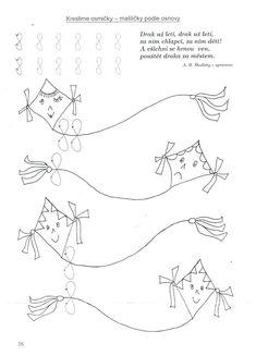 Drak-kreslíme osmičky Board Decoration, Autumn Activities For Kids, Drake, Worksheets, Kindergarten, Preschool, Crafts, Fall, Rabbit Ears