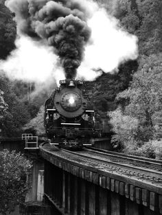 Steam engine in West Virginia. Nothing better than the sound of that whistle!