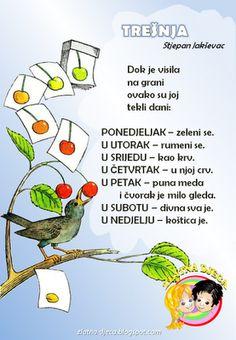 Zlatna djeca: Trešnja (Stjepan Jakševac) Preschool Projects, Preschool Activities, Croatian Language, Kids Library, Anchor Charts, Literature, Kindergarten, Projects To Try, Clip Art