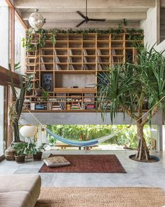 Bali-based Patisabdhika Studio and architect Daniel Mitchell recently completed this gorgeous brutalist house. Named A Brutalist Tropical Home in Bali , the multi-level square feet sqm) house is located in a small valley nestled within ric Interior Architecture, Interior And Exterior, Interior Design, Ikea Interior, Sustainable Architecture, Contemporary Architecture, Design Design, Modern Design, Estilo Tropical