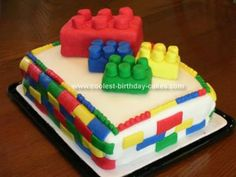 Homemade Building Bricks Cake: This Building Bricks cake was an adventure that my 9-yr old son and I went on. He is a huge collector and really enjoys all the food challenge shows on