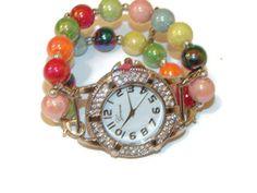 Colorful Petite Beaded Watch Petite Beaded Bracelet by BeadsnTime, $30.00